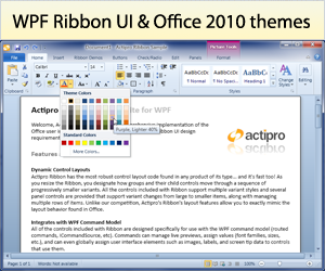 Ribbon for WPF