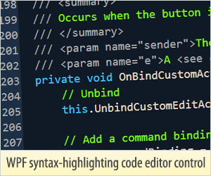 Actipro SyntaxEditor for WPF